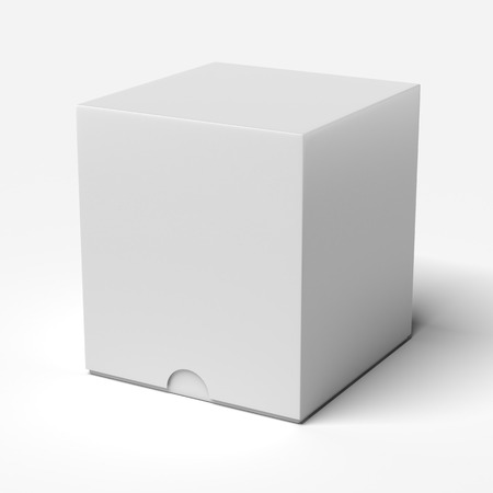 White box isolated on a white background photo