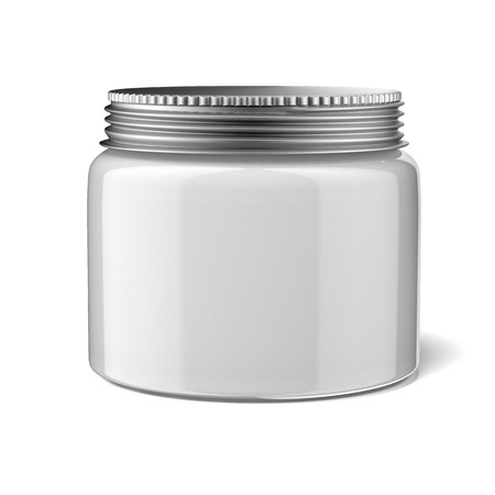 body fluid: Blank cosmetic container  isolated on a white background