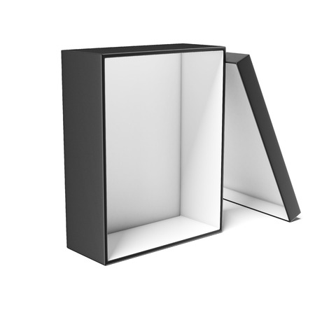 ebox: Black Gift Box  isolated on a white background