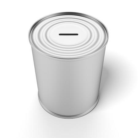 Coin Bank isolated on a white background photo