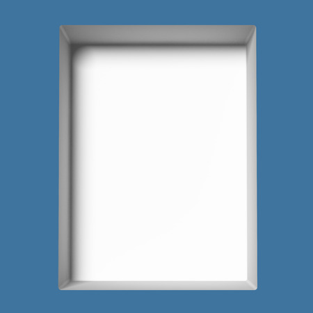 single blue empty showcase. 3d render Stock Photo - 22403619