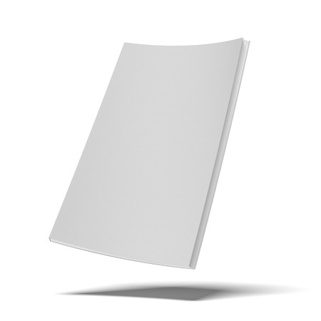 white book with blank soft cover isolated on a white background Stock Photo - 22403620
