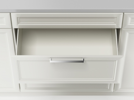white drawer  isolated on a white background photo