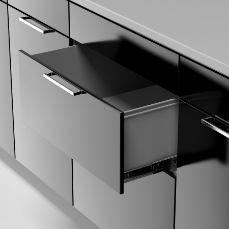 black drawer isolated on a white background photo