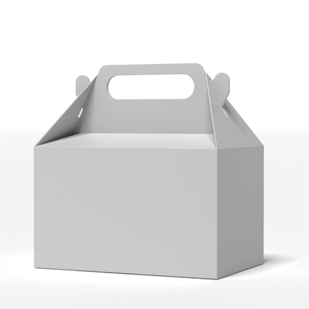 FOOD BOX:  Fast Food Box isolated on a white background Stock Photo