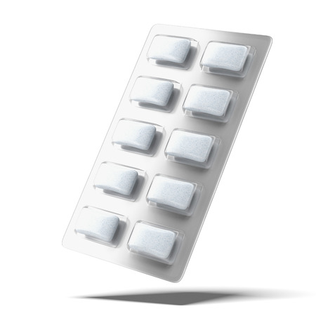 packaged: Chewing Gum  isolated on a white background Stock Photo