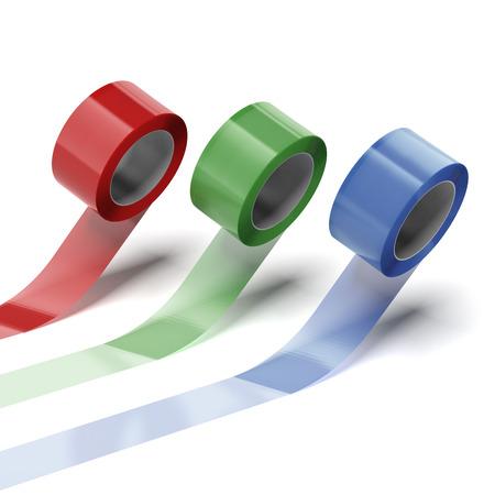 스카치 접착 테이프 세트는 흰색 배경에 고립 스톡 콘텐츠 - 22403637