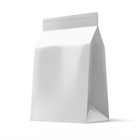 Foil package isolated on a white background photo