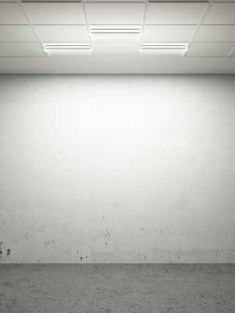 celling:  white room with modern celling. 3d render Stock Photo