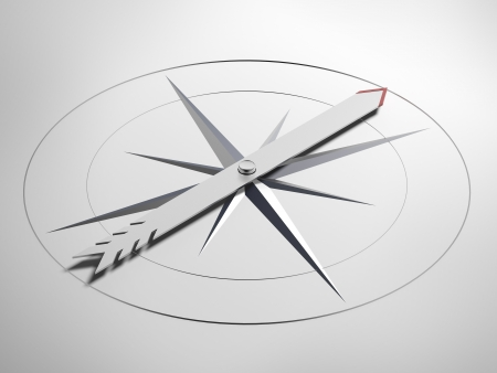 windrose: Navigation concept isolated on a white background Stock Photo