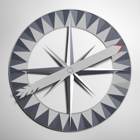 Wind rose with arrow isolated on a white background photo