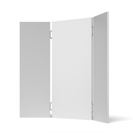 screen partition: Folding screen isolated on a white background
