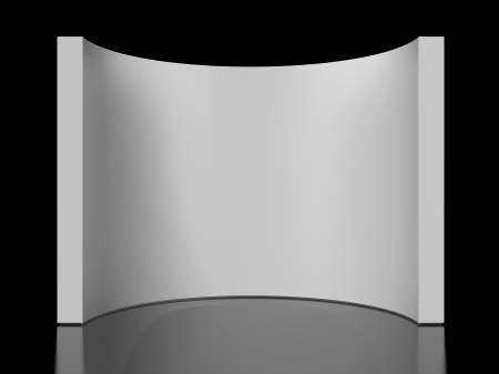 round wall isolated on a black background photo