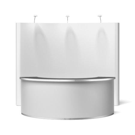 expositor: Pantalla con comercial de la exposición se encuentran aislados en un fondo blanco