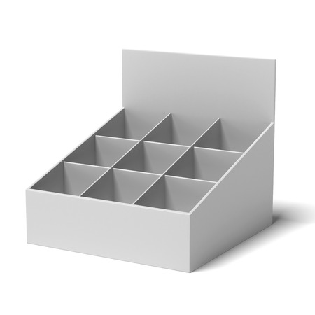 customize: holder with many cells for leaflets isolated on a white background