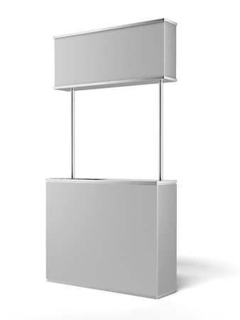 bar area: White promotion counter  isolated on a white background