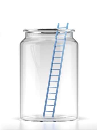 Ladder in jar isolated on a white background Stock Photo - 22403780