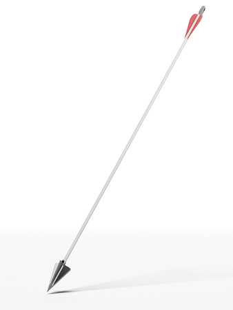 longbow: Modern arrow  isolated on a white background