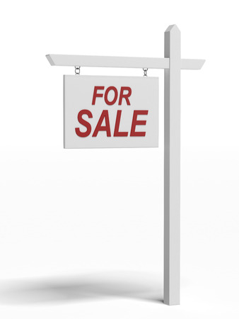 For sale sign  isolated on a white background Stock Photo - 22403802