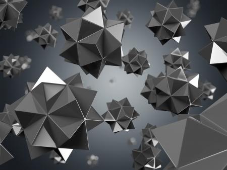 nano: black nano particles isolated on black