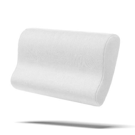 白い背景に分離されたラテックス枕