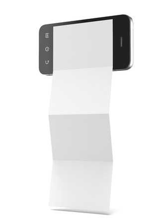 Leaflet phone isolated on a white background photo