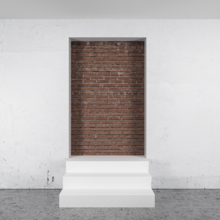 impasse: deadlock door isolated on a white background