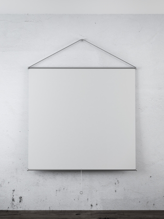 Blank projector on the wall in interior photo