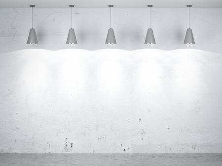 Five lamps in inter. 3d render Stock Photo - 22403855
