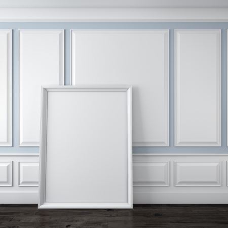 wood molding: Classic interior with frame