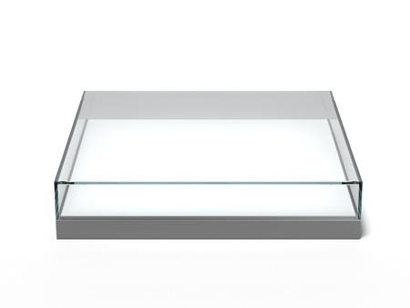 Empty glass showcase isolated on a white background Stock Photo - 22403878