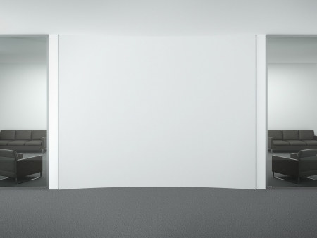 Blank wall in office. 3d render Stock Photo - 22403880