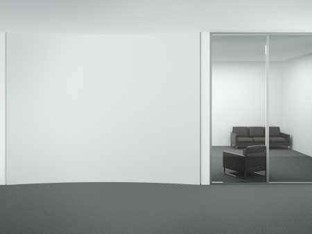Office interior. 3d render Stock Photo - 22403882