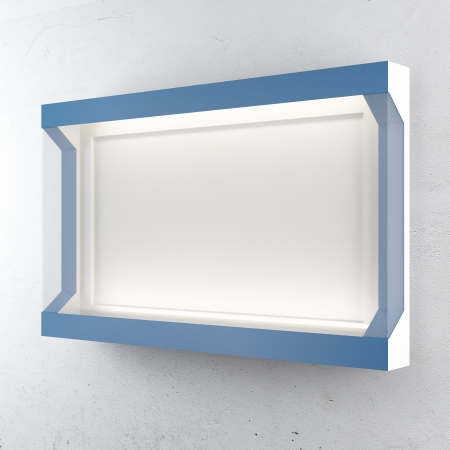 Blue lightbox isolated on a white background photo