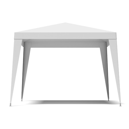white light canopy isolated on a white background Stock Photo