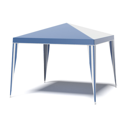 canopy: blue light canopy isolated on a white background