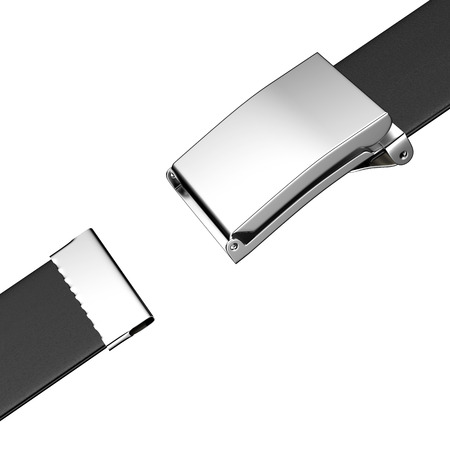 buckled: closing belt  isolated on a white background
