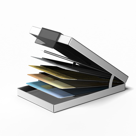 holder: busines card holder  isolated on a white background