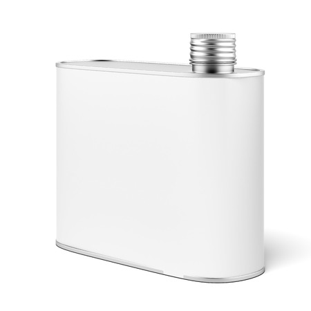 Metal flask isolated on a white background. 3d render Stock Photo - 22489429