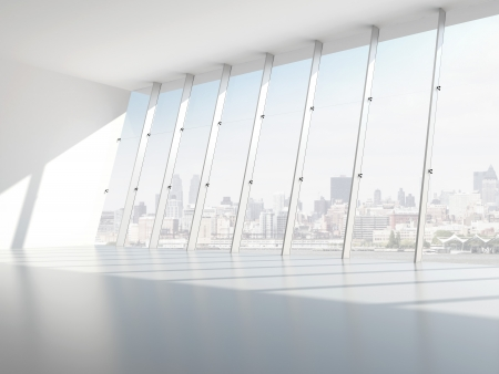 Hall with windows. 3d render Stock Photo - 22489463