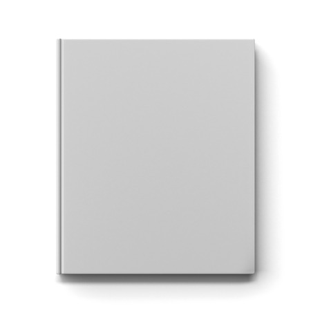Blank book cover isolated on a white background. 3d render