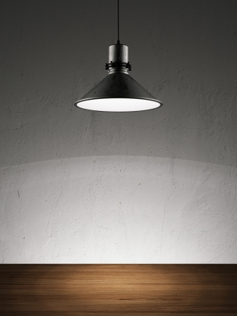 white wall with lamp. 3d render photo