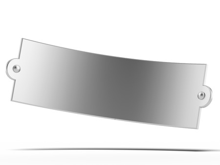 solidity: Steel plate isolated on a white background. 3d render
