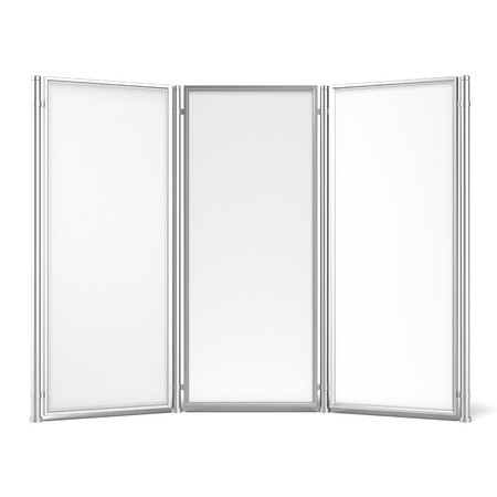 screen partition: Folding screen banner isolated on a white background. 3d render