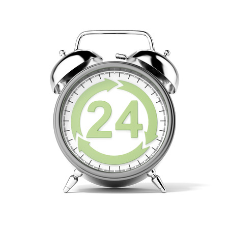 Service 24 hours isolated on a white background. 3d render Stock Photo - 22769386