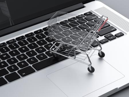 sell online: online shopping concept . 3d render