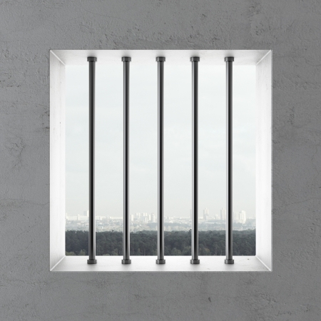 security council: Jail window  . 3d render