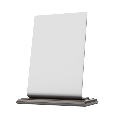 assign: table banner isolated on a white background. 3d render