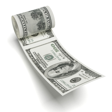 roll of dollars  isolated on a white background  3d render photo