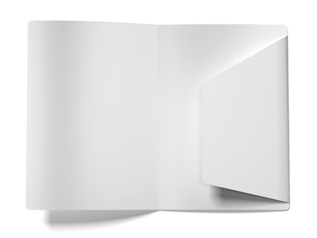White empty open folder  isolated on a white background. 3d render Stock Photo
